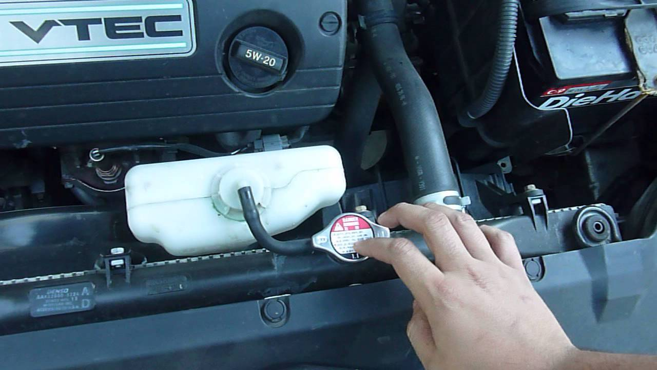 2003 2007 Honda Accord Radiator Coolant Plug Location Tips
