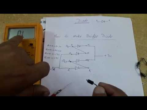 Hardware Education/ How to check Diode & How to make Bridge Rectifier