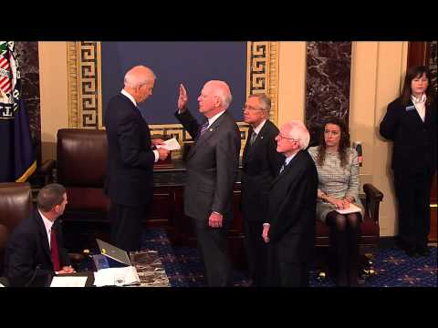 Senator Leahy Is Sworn In As President Pro Tempore Of The United States Senate