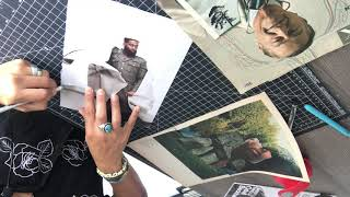 Paper Cut Vlog 1 / Live Collaging with Luis Martin / The Art Engineer