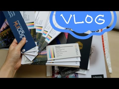 """August Vlog / Wrapping up """"Eel"""" comic art, paper swatches, planning for print"""