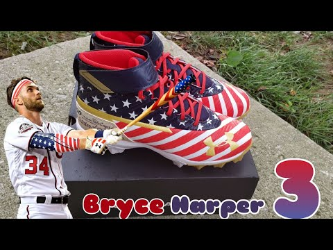 Under Armour X Bryce Harper 3 Mid JR American Flag Cleats Review