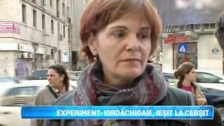 Experiment: Daniel Iordachioaie iesit la cersit