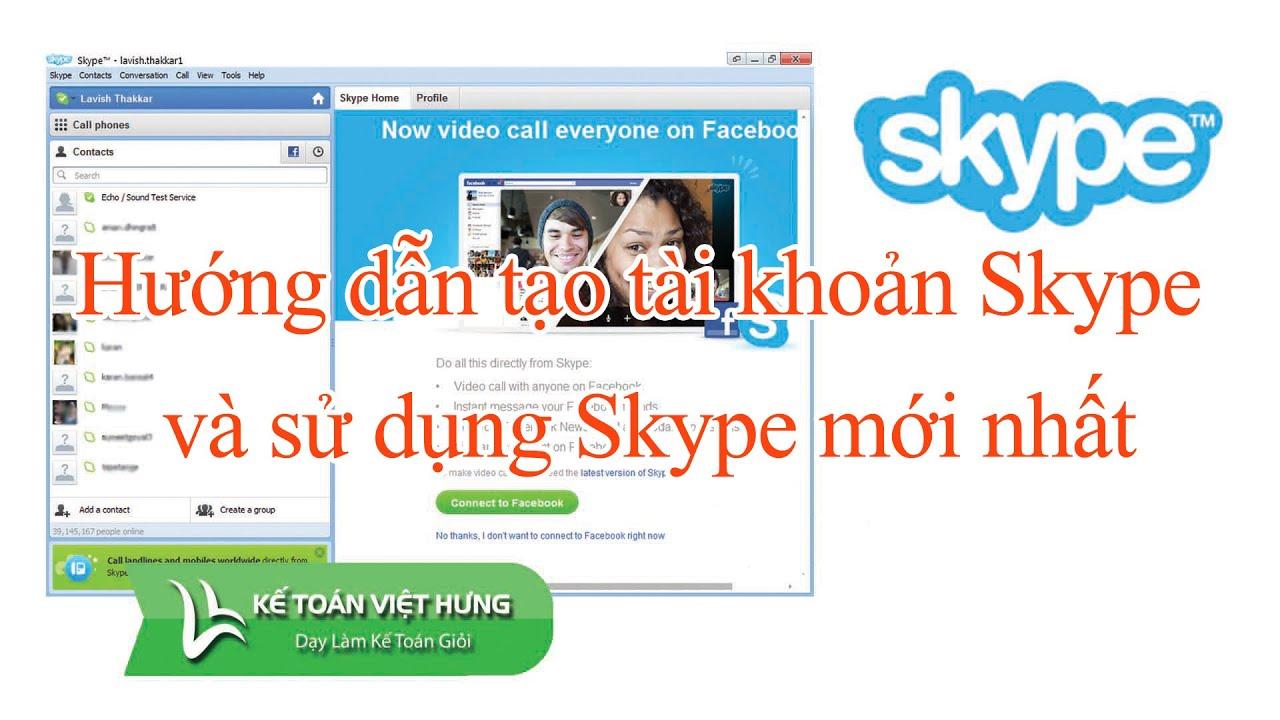 Hướng dẫn tạo tài khoản Skype và sử dụng Skype mới nhất 2016