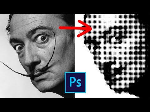 Эффект портрета из кругов в фотошопе