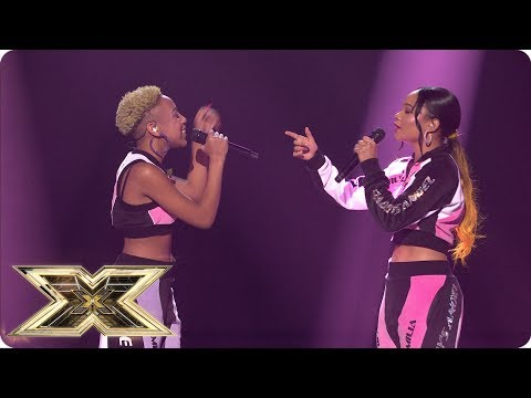 Acacia & Aaliyah Sing All My Life/Shutdown In Sing-off | Live Shows Week 4 | The X Factor UK 2018