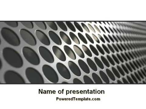 Perforated metal powerpoint template by poweredtemplate youtube toneelgroepblik Choice Image