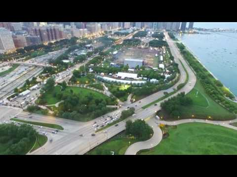 Soldier Field and Lollapalooza Flyover