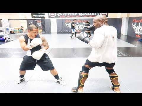 SPARRING WITH A HEAVYWEIGHT MMA FIGHTER!(MY NOSE BLED!)