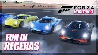 Forza Horizon 3 - Epic Fun in Regeras! (Reverse Speed & Huge Jumps)
