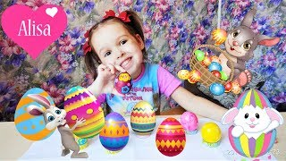 Как покрасить яйца на Пасху 4 ПРОСТЫХ И ИНТЕРЕСНЫХ СПОСОБА Красим яйца на Пасху