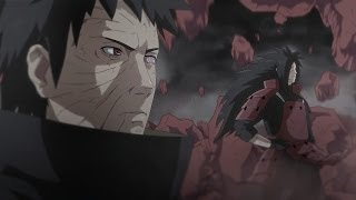 Naruto,Kakashi,Guy,B vs Obito and Madara Part 3