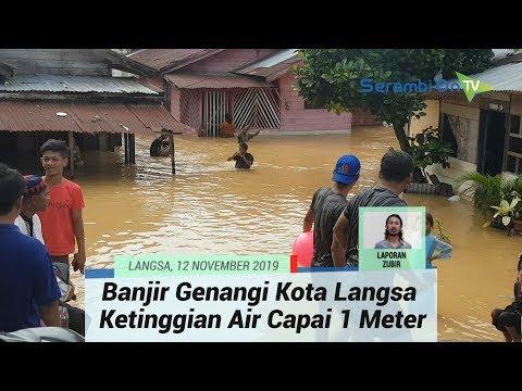 Banjir Genangi Dua Kecamatan Di Kota Langsa, Ketinggian Air Capai 1 Meter Lebih