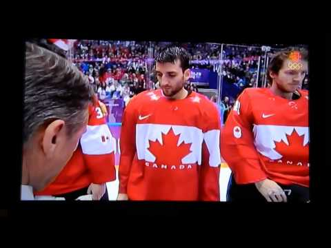 2014 SOCHI - HOCKEY - Men's - GOLD MEDAL ceremony - O CANADA - 20140223 Sunday 0400 PT