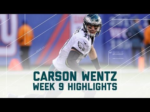 Carson Wentz Throws for 364 yards & 2 INTs | Eagles vs. Giants | NFL Week 9 Player Highlights