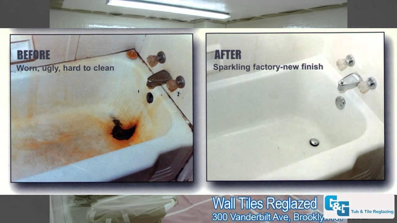 GG Tub Tile Reglazing Our Work Photos Bathtub Reglazing - Reglazing bathroom tile before and after