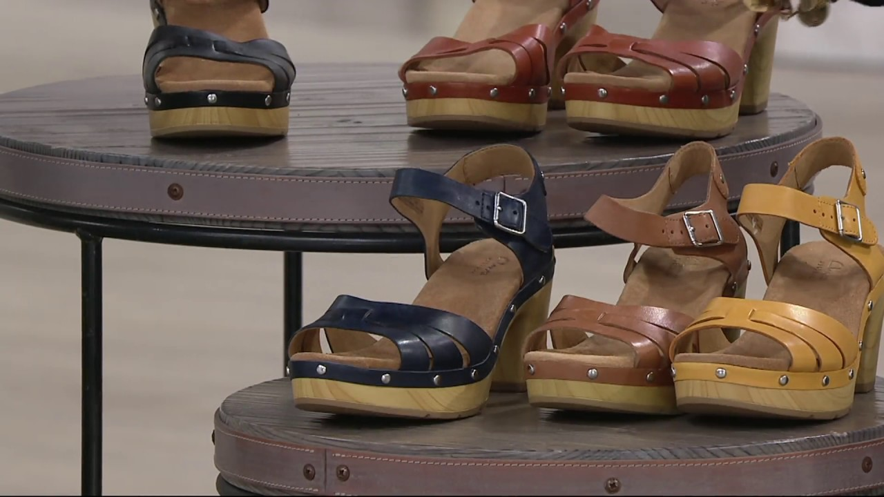 1ce3414eeee0c1 Clarks Artisan Leather Clog Sandals - Ledella Trail on QVC - YouTube