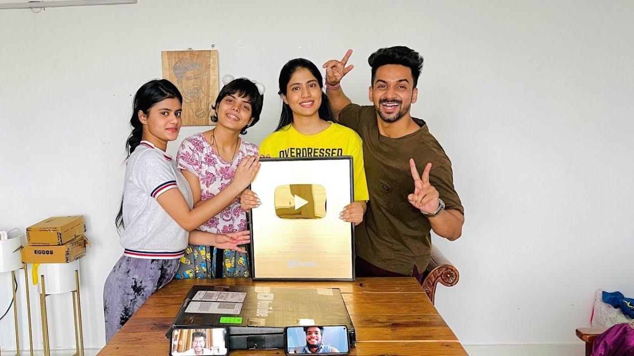 Finally Aagaya Humara Golden Play Button | Suraj Pal Singh | Yashi Tank