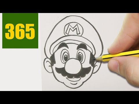 HOW TO DRAW A SUPERMARIO CUTE, Easy step by step drawing lessons for kids