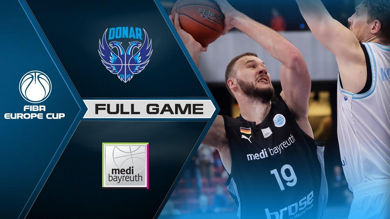 Donar Groningen v medi Bayreuth | Full Game - FIBA Europe Cup 2021-22
