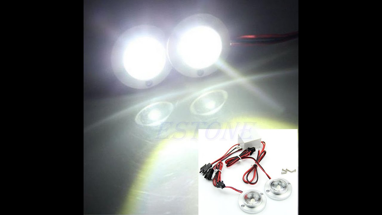 Led Deckenbeleuchtung Flach Car 2 Led Strobe Blub Light Warning Flash