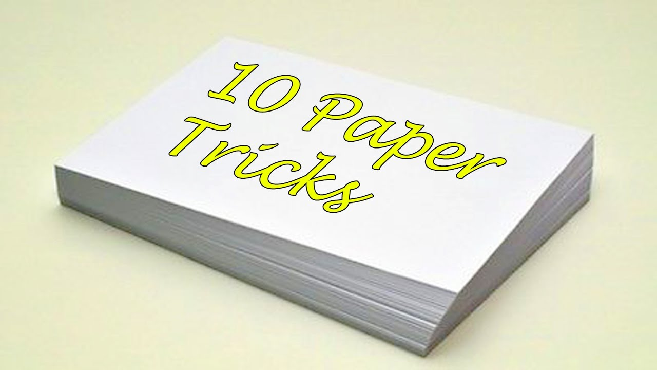 10 FANTASTIC THINGS CAN BE MADE WITH PAPER