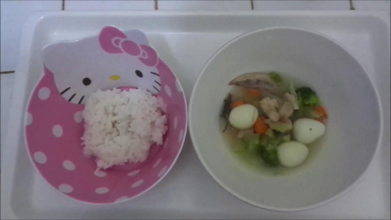 Cara Membuat Mpasi 1 Tahun Lebih Menu Sop Ayam Dan Sayuran Youtube