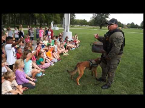 Delaware County Sheriff's Show K-9 demonstration for kids