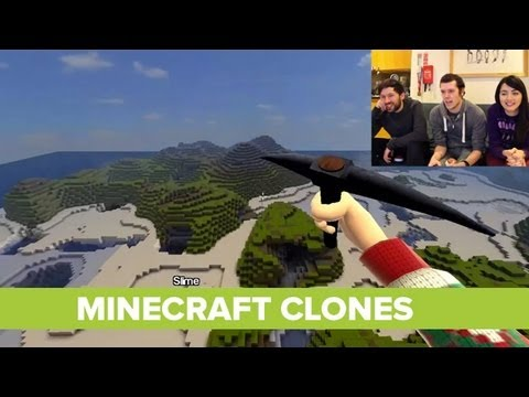 Let's Play Minecraft Clones Indie Games - CastleMiner Z, Miner of Duty,  Miner4ever