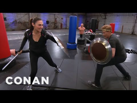 Thumbnail: Conan Works Out With Wonder Woman Gal Gadot - CONAN on TBS
