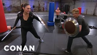 Conan Works Out With Wonder Woman Gal Gadot  - CONAN on TBS thumbnail