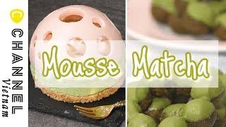 Bánh Mousse Matcha hình quả cầu nghê thuật⭐