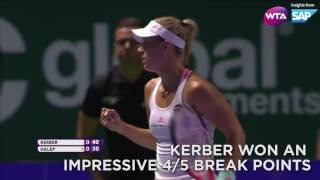 SAP Stat of the Day: 2016 WTA Finals Singapore Day 3 | Angelique Kerber