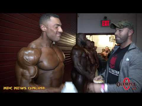 2019 IFBB NY Pro Men's Bodybuilding Backstage Prejudging Video Pt.2