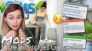 Sims bekommen ihre PERIODE & werden krank! 🤒 - Die Sims 4 Gameplay Mods #4| simfinity