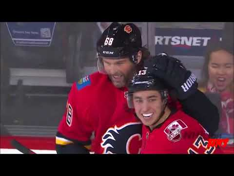 Jaromir Jagr Scores His first NHL Goal as a Calgary Flame | Flames vs Red Wings