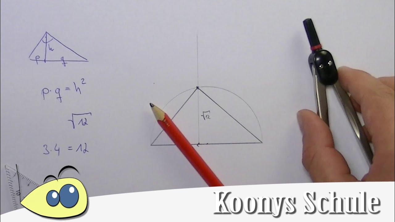 Wurzel konstruieren mit Zirkel, Lineal und Bleistift - Zirkel nicht ...