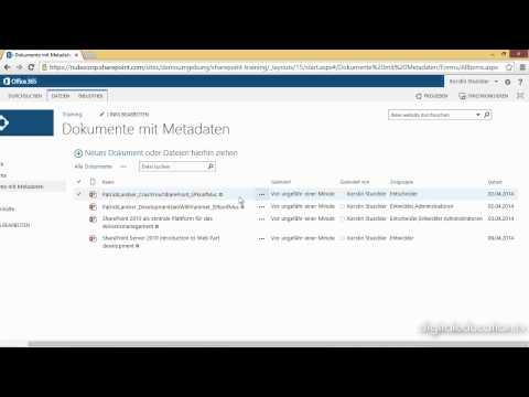 SharePoint 2013 für End-User - Arbeiten mit Metadaten