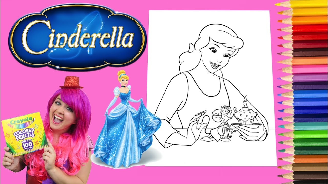 Coloring Cinderella Disney Princess Coloring Book Page