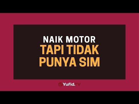 Hukum Berkendara Tanpa SIM (Surat Izin Mengemudi) - Poster Dakwah Yufid TV