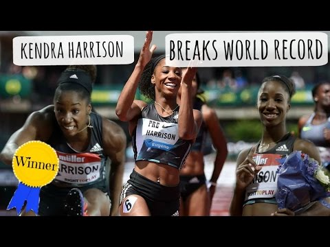 Kendra harrison breaks world record london anniversary games