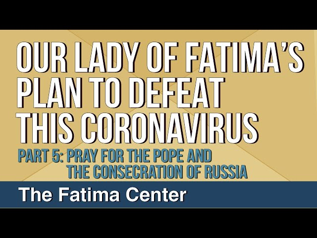 Our Lady of Fatima's Plan to Defeat This Coronavirus: Part 5 - Pray For the Pope And Consecration