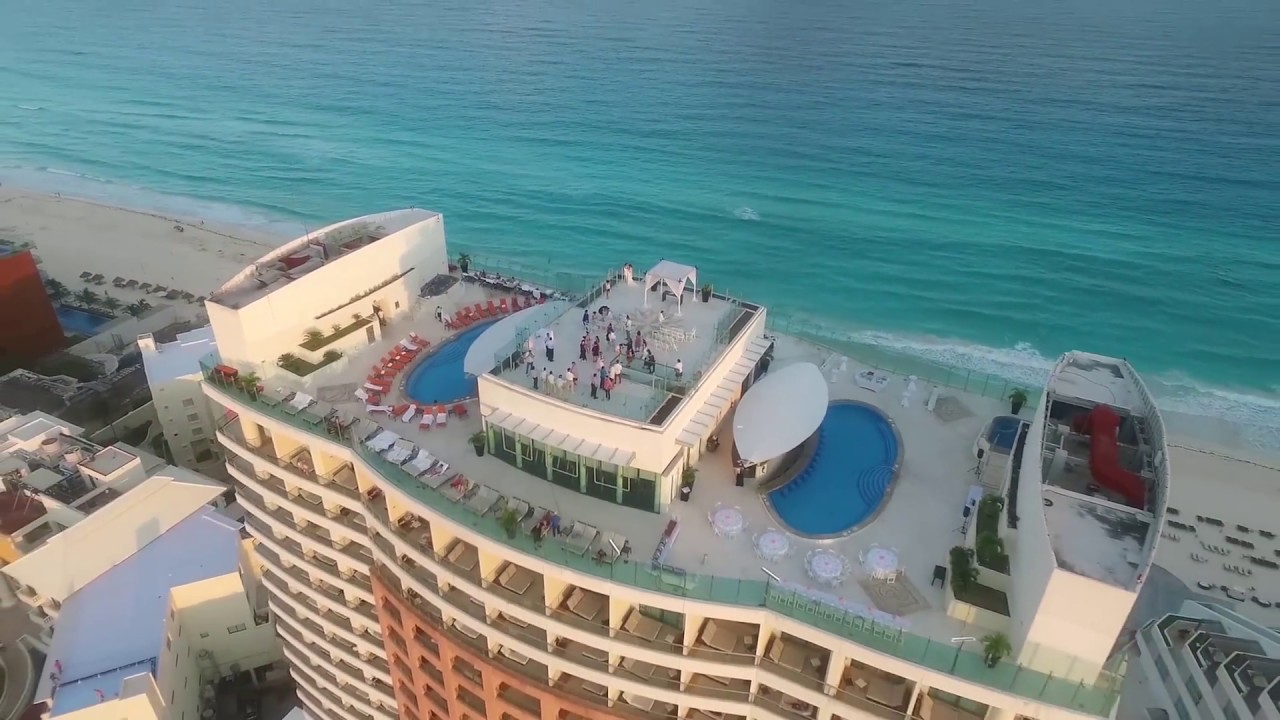 Vanessa And Sergio Beach Palace Cancun Wedding Video With Drone