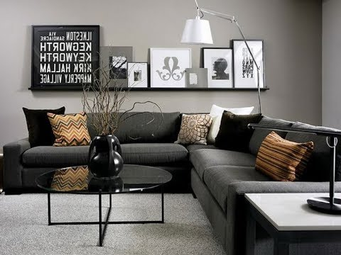 Top 40 Cheap Luxury Living Room Decor Ideas With Black Sofa | Best Interior Design Tour 2018 - YouTube