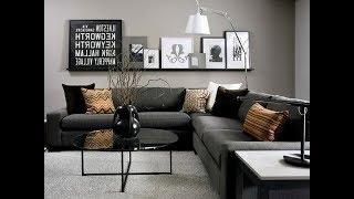 Top 40 Cheap Luxury Living Room Decor Ideas With Black Sofa | Best Interior Design Tour 2018