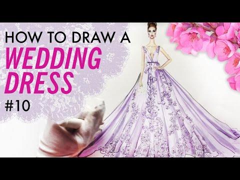 how-to-draw-a-wedding-dress-#10-|-fashion-drawing