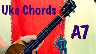 a7 ukulele chords