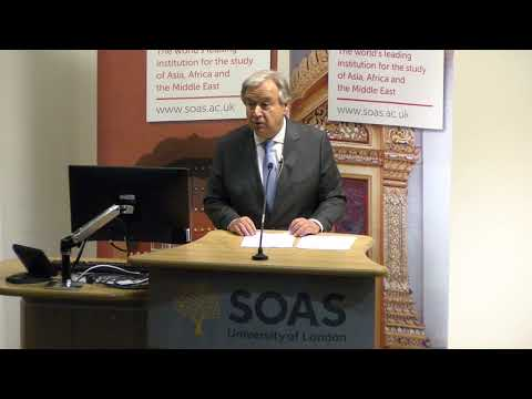 Counter-terrorism and human rights - United Nations Secretary-General at SOAS University of London