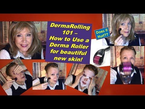 DermaRolling 101 !  Derma Roller Lesson for Older Faces ! Improve your skin!