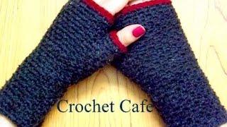 كروشيه جوانتى بدون أصابع - #كروشيه_كافيه# Crochet Cafe